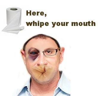 Wipe your mouth